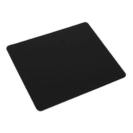 Mouse Pad Emborrachado Tecido Preto 22x18cm Exbom 35809