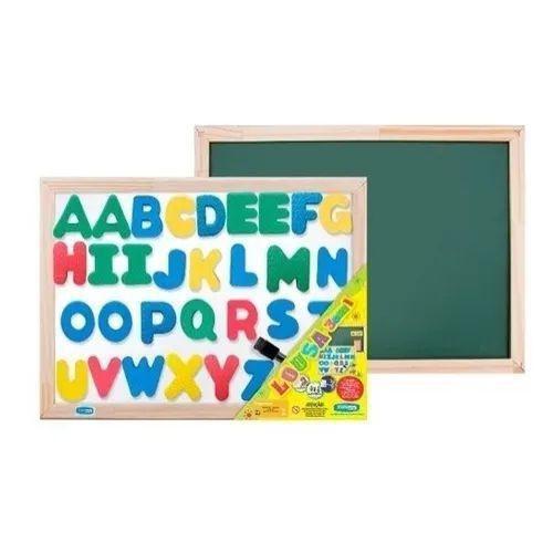 Lousa ABC Magnética - Dupla Face, com letras imantadas em EVA - Cort Art