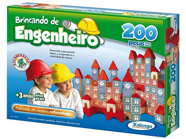 Jogo Brincando de Engenheiro 200 Peças - Xalingo