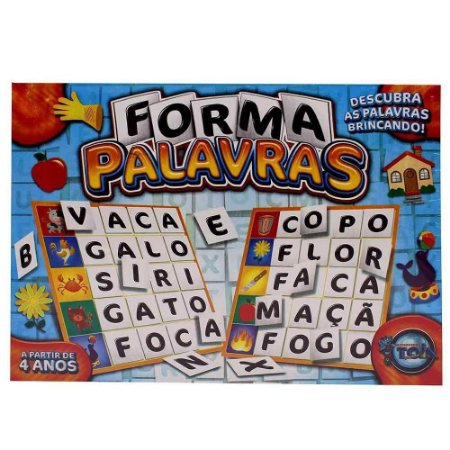 Forma Palavras - Descubra as Palavras Brincando - Brinquedos toia
