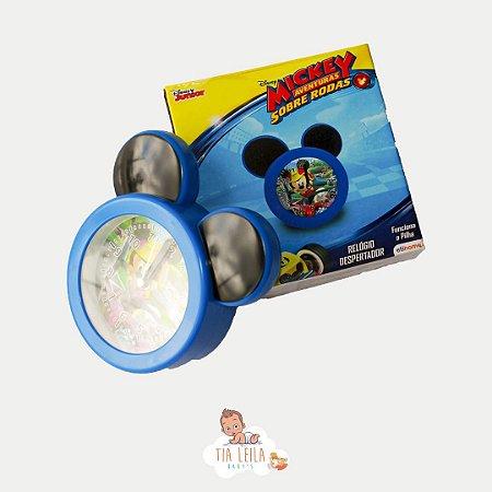 Relógio de Mesa Despertador de Mesa Mickey Mouse Azul