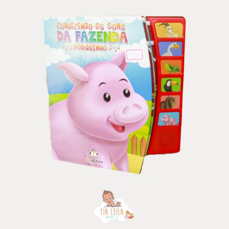 Livro sonoro Conhecendo os Sons da Fazenda Porquinho