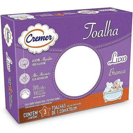 Toalha Luxo Cremer C/3 Unid Branca