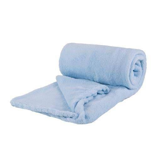 Cobertor Bebê Infantil Microfibra Azul Claro Parahyba