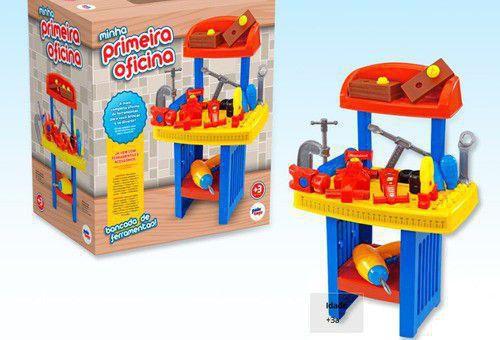 Brinquedo Minha Primeira Oficina Vários Acessórios Paki Toys