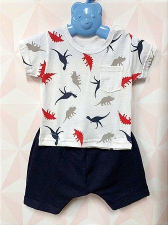 Conjunto camiseta e shorts Dino - Randa Mundo