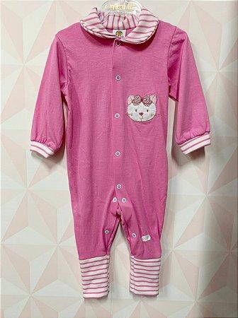 Macacão longo rosa - Bloomy's Baby - TAM G