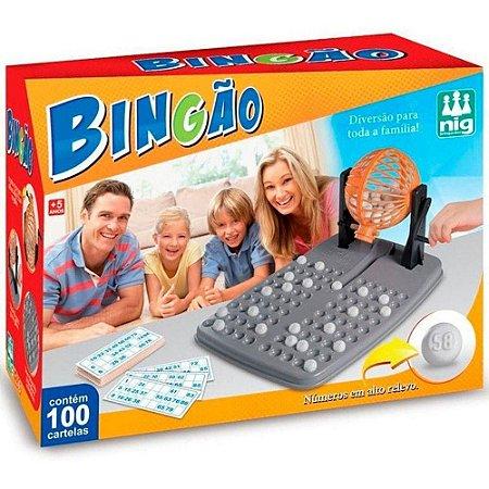 Jogo Bingao 100 Cartelas e Globo Giratorio - Nig Brinquedos