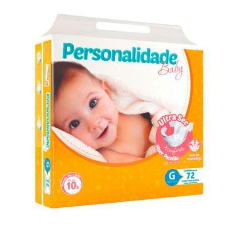 Fralda Descartável Infantil Personalidade Ultra Sec G C/72