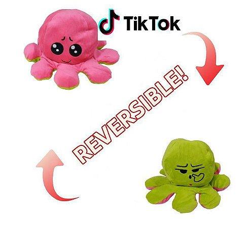 Polvo De Pelúcia Reversível Humor Feliz Bravo Bipolar Criativo - Bbr Toys