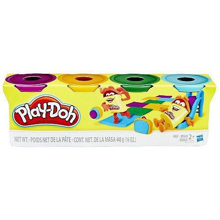 PLAY DOH 4 POTES Sortimento 1 - Play-Doh