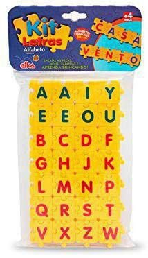 Kit letras alfabeto - elka