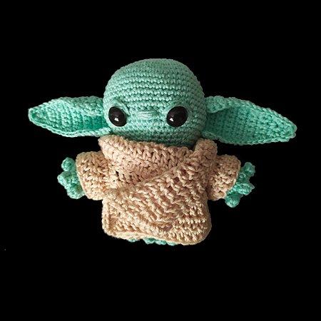 Boneco Amigurumi Grogu de Crochê - Baby Yoda