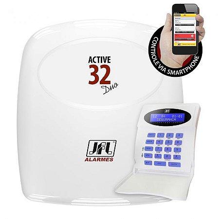 Central de Alarme Monitoravel Active 32 DUO JFL - Controle Via Smartphone
