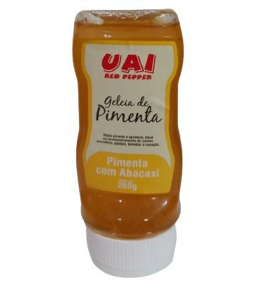 Geléia de Pimenta com Abacaxi em Bisnaga (260 Gr)