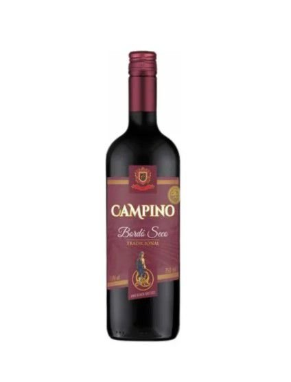 Vinho Campino Bordô Seco - 750 ml