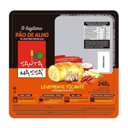 Pão de Alho Picante - Santa Massa 240 Gr