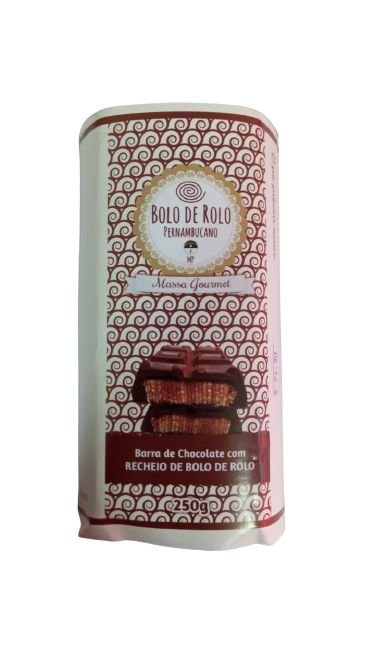 Barra de Chocolate recheada com Bolo de Rolo 250 Gr