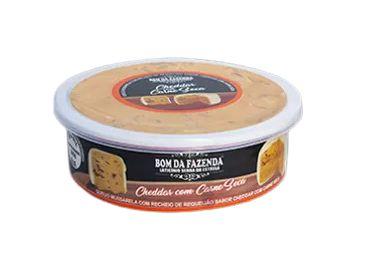 Queijo Trufado com Cheddar e Carne Seca - Bom da Fazenda (Peso médio 370 Gr)