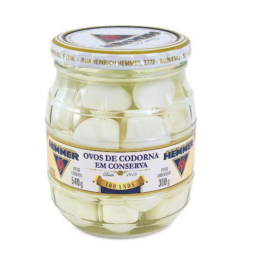 Ovos de Codorna em Conserva - Hemmer 540 Gr