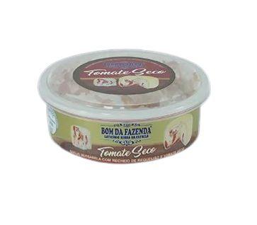 Queijo Trufado com Tomate Seco - Bom da Fazenda (Peso médio 370 Gr)