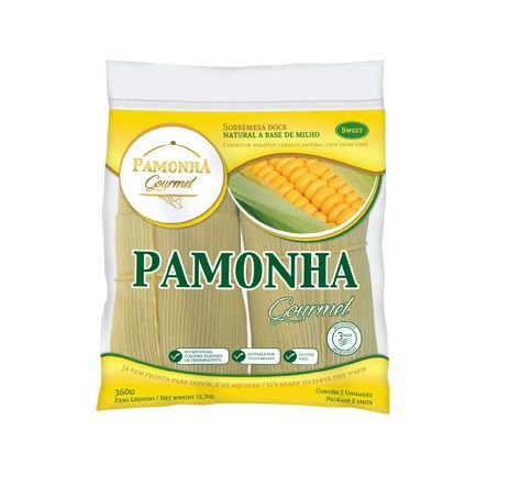 Pamonha Gourmet Doce Congelada - 2 Un 360 Gr