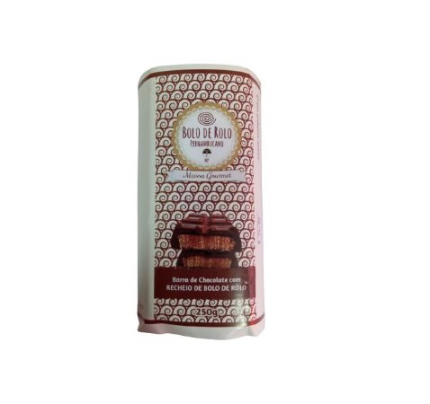 Barra de Chocolate Recheada com Bolo de Rolo - 250 Gr