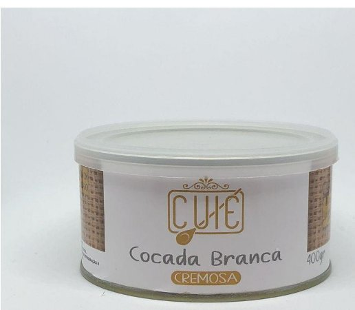 Cocada Cremosa Branca Lata - Cuié 400GR