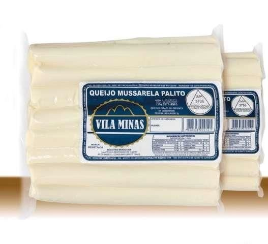 Queijo Mussarela Palito Vila Minas (Peso médio 0,300 Gr)