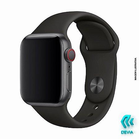 Pulseira Apple Watch Silicone Devia 40mm Black