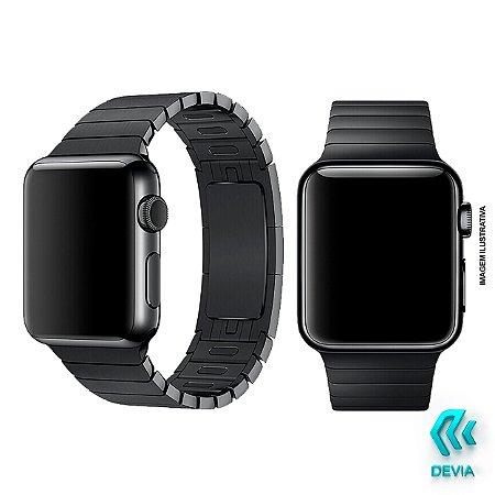 Pulseira Apple Watch Metal 44mm Black Devia