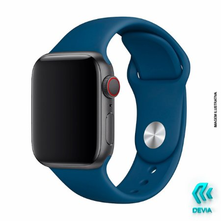 Pulseira Apple Watch Silicone 40mm Blue Horizon