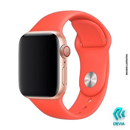 Pulseira Apple Watch Silicone 40mm Nectarine Devia