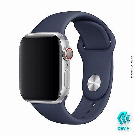 Pulseira Apple Watch Silicone 44mm Midnight Blue Devia