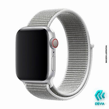 Pulseira Apple Watch Tecido 40mm Seashell Devia