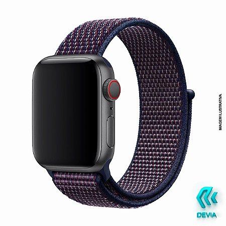 Pulseira Apple Watch Tecido 40mm Indigo Devia