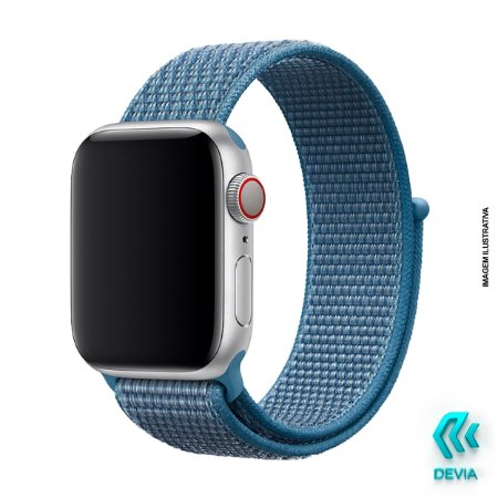 Pulseira Apple Watch Tecido 40mm Cape Cod Blue Devia