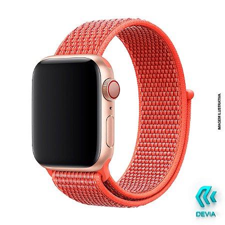 Pulseira Apple Watch Tecido 44mm Nectarine Devia