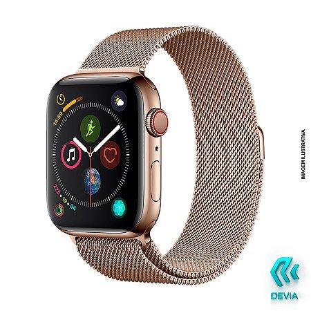 Pulseira Apple Watch Milanese 44mm Gold Devia