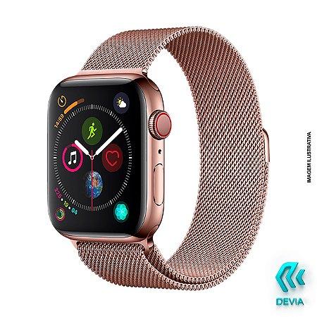 Pulseira Apple Watch Milanese 40mm Rose Gold Devia