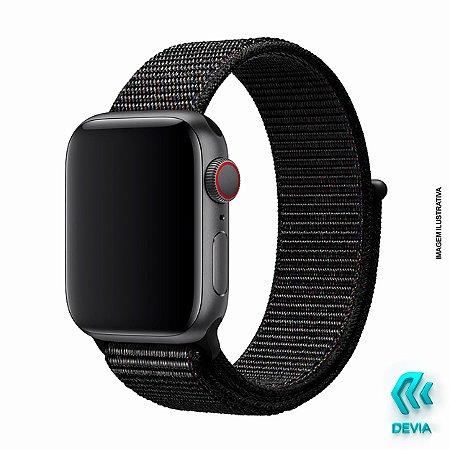 Pulseira Apple Watch Tecido 44mm Black Devia