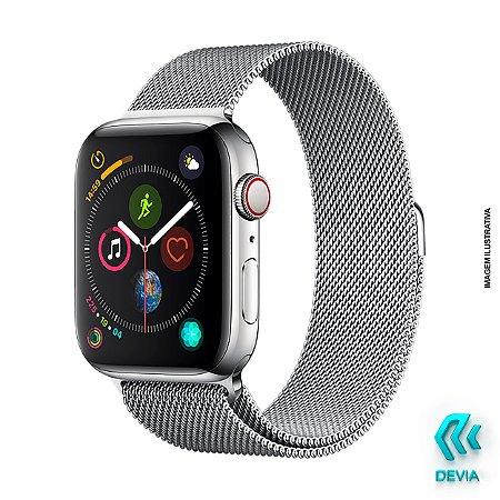 Pulseira Apple Watch Milanese 44mm Silver Devia
