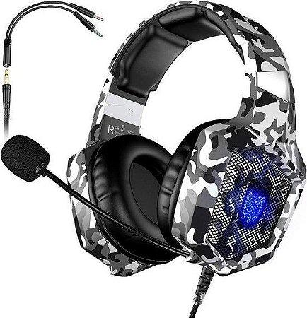 Headphone Onikuma camuflado K8