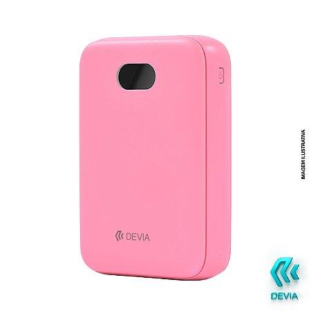 Power Bank Digital Mini Devia 10.000mAh Rosa