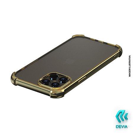 Capa Para iPhone 12 Pro Max Glitter Shockproof Devia Dourada