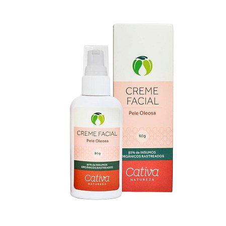 Creme Hidratante Facial Pele Oleosa 60g - Cativa Natureza