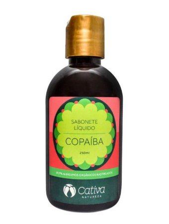 Sabonete Líquido Natural de Copaíba 250ml – Cativa Natureza