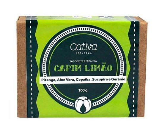 Sabonete Vegetal Natural de Capim Limão 100g – Cativa Natureza