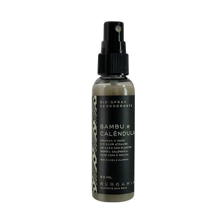 Desodorante Bioativo Natural em Spray Bambu e Calêndula 60ml - Bergâmia