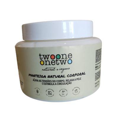 Manteiga Corporal Nutritiva Natural Vegano Karitê e Argan 200g-Twoone Onetwo